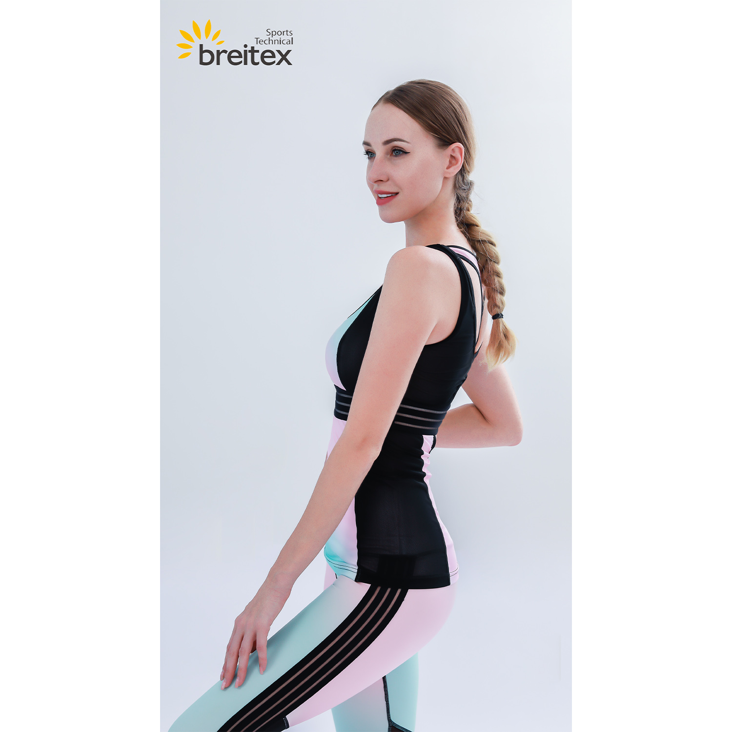 product-Breathable compression Neon gradient yoga set-Breitex-img-1