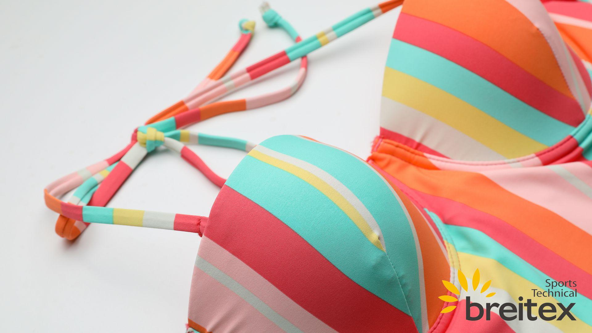 product-Ladies swimwear, the contrast color swimwear, striped tankini set, two-piece bikini-Breitex