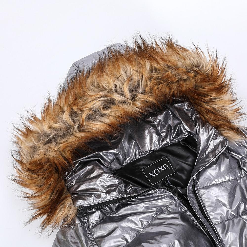 product-Breitex-Womens padding jacket with faux fur trim-img