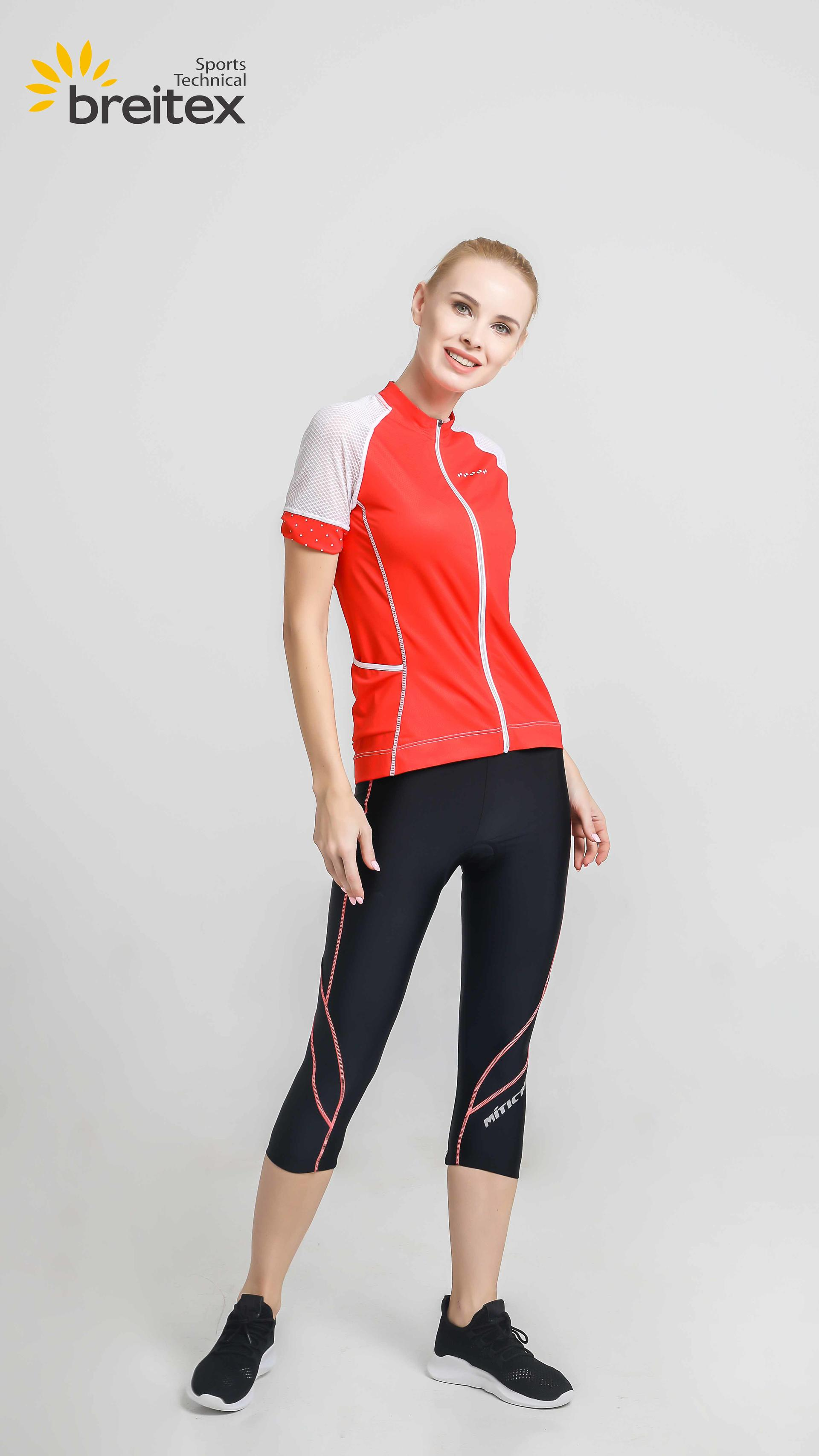 product-2020 Women Sportswear Cycling Short-Sleeved Jersey Red-Fire-Breitex-img-1