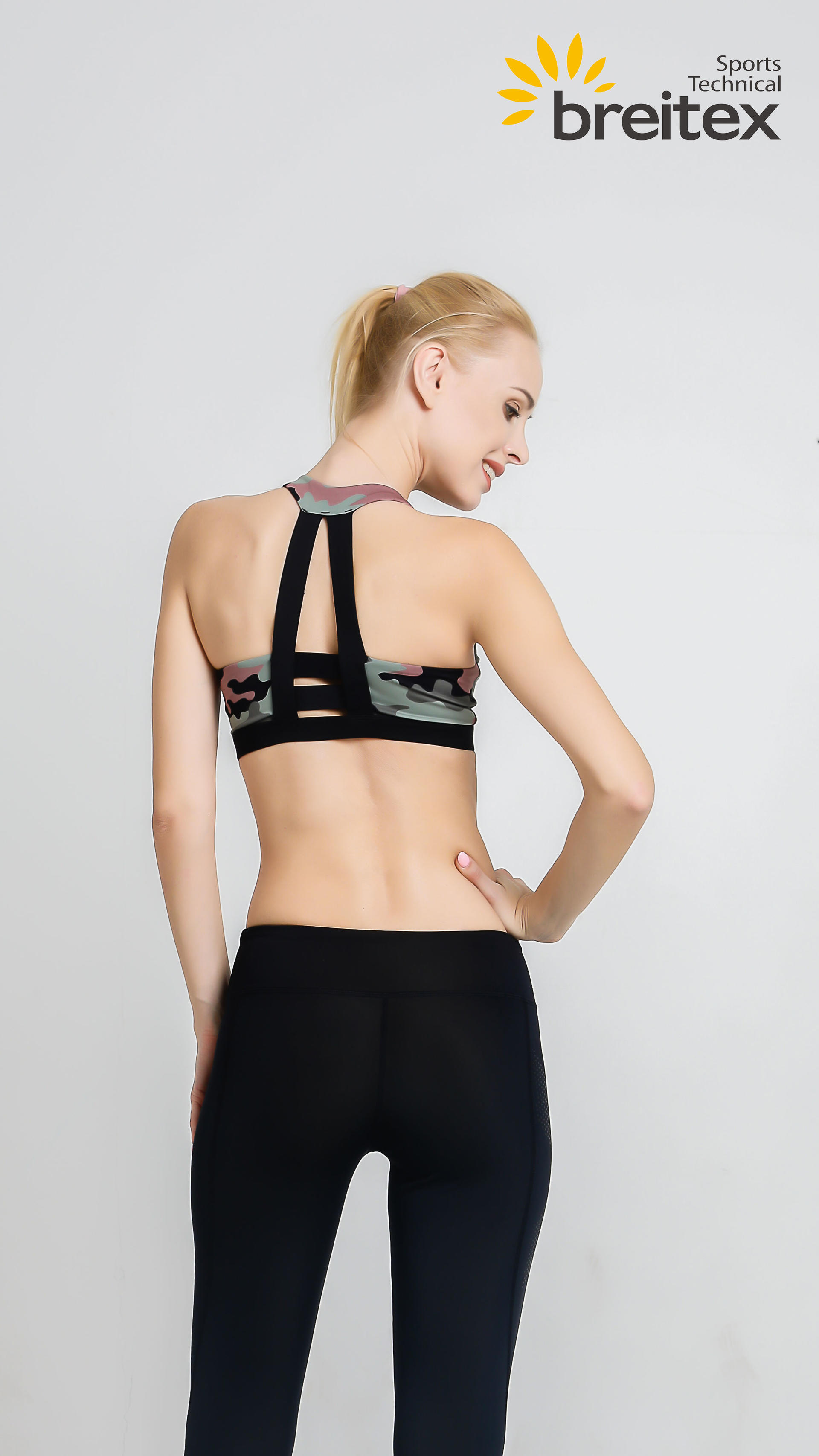 product-Breitex-Womens Zipper Front Sports Bra Seamless With Removable Pads High Impact for Yoga Wor