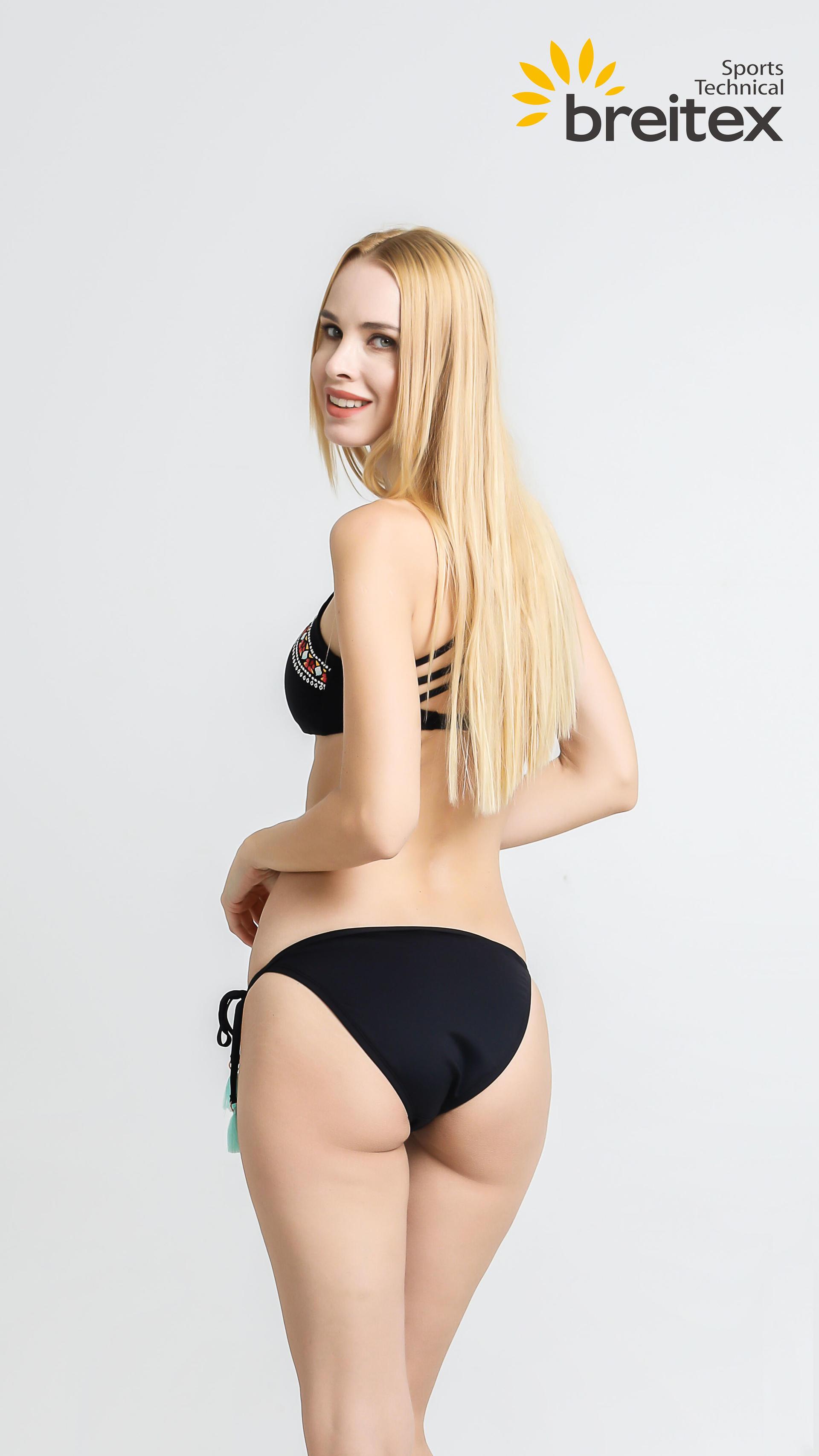 product-Ethnic Swimwear Women Retro Crop Halter Swimsuit Low Waist Bottom Two Piece Bikini - Foam Pr-1