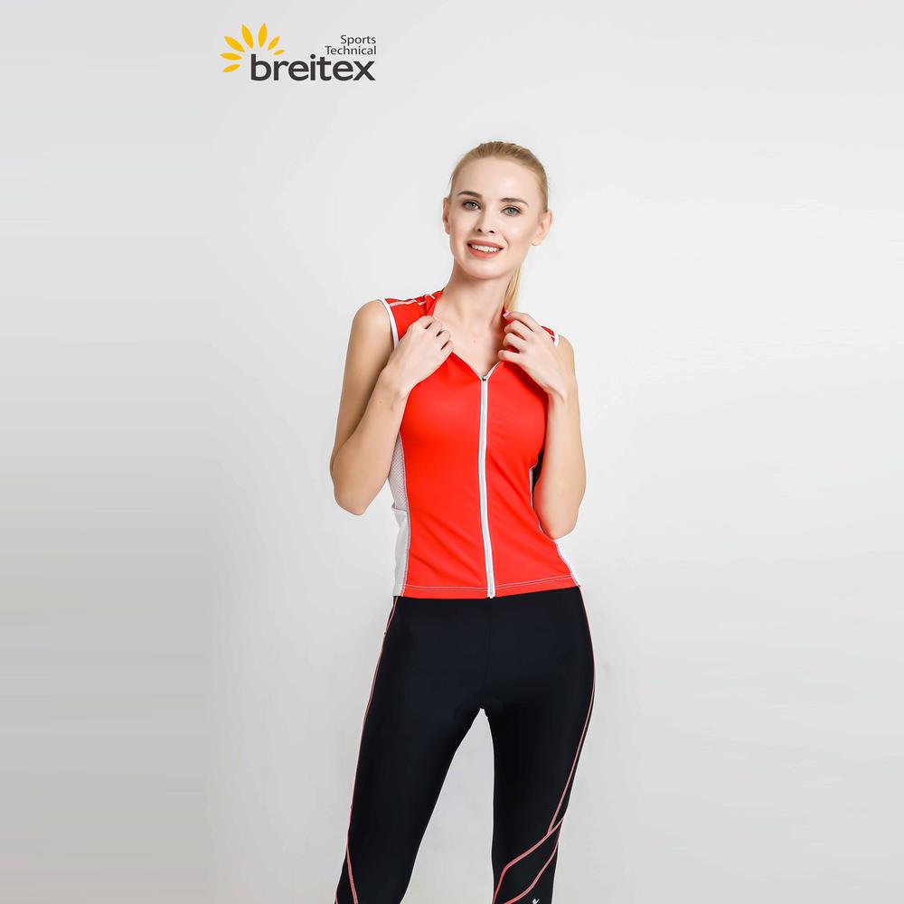 2020 Women Sportswear Cycling Sleeveless Jersey Red-Fire