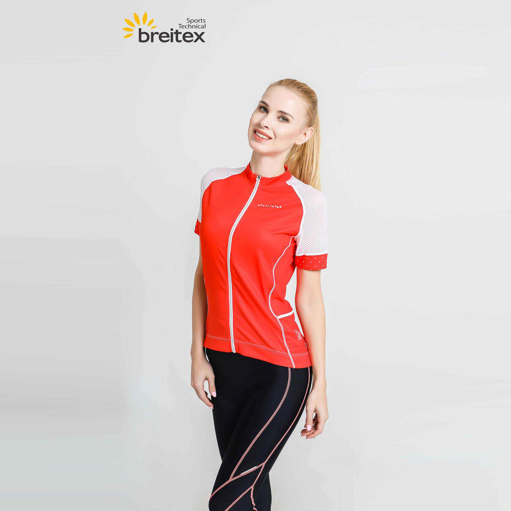2020 Women Sportswear Cycling Short-Sleeved Jersey Red-Fire