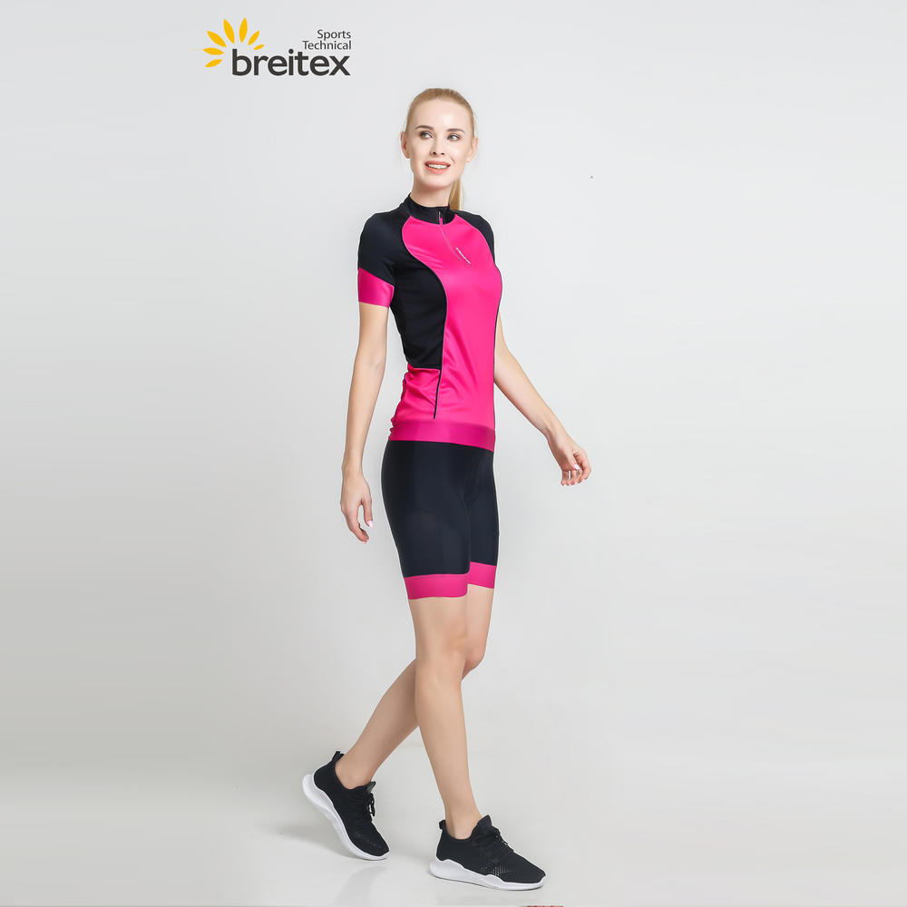 Quick Dry Sportswear Solid Short Sleeve Mountain Bike Jersey Biking Shirt Women Cycling Jersey