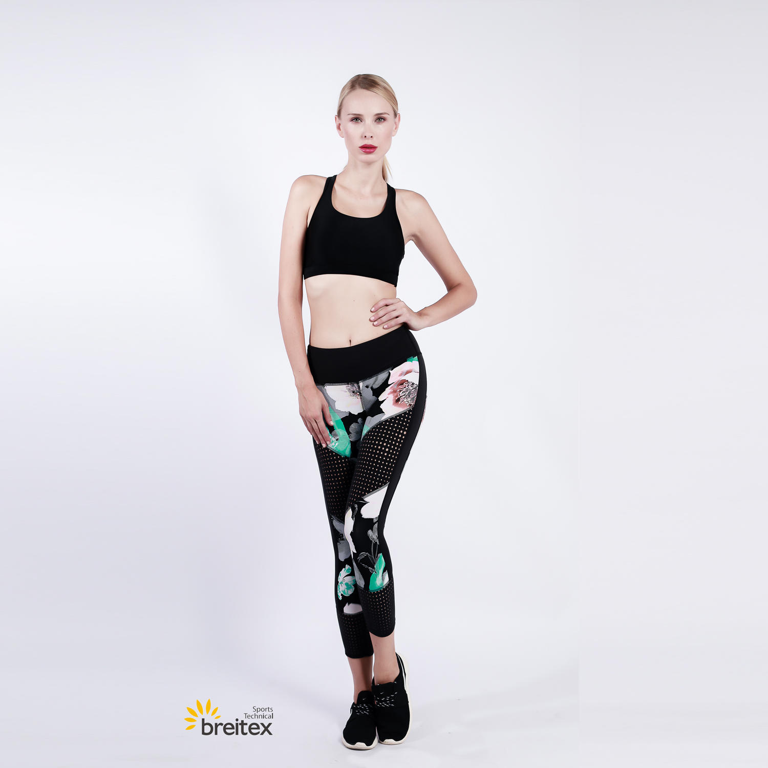 ladies' yoga wear, knit bra and leggings