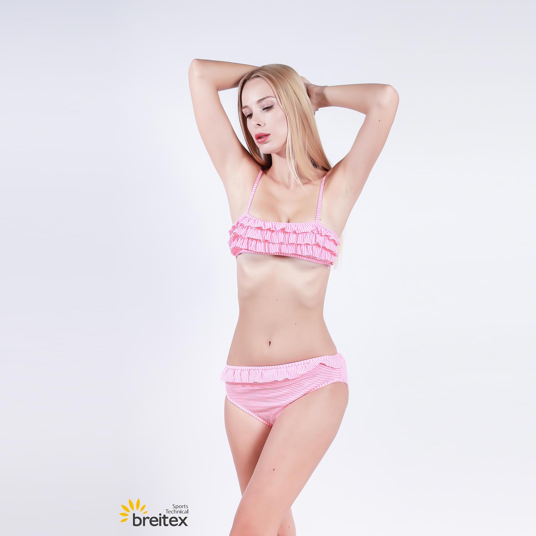 best swimsuits ruffle bikini in jacquard fabric