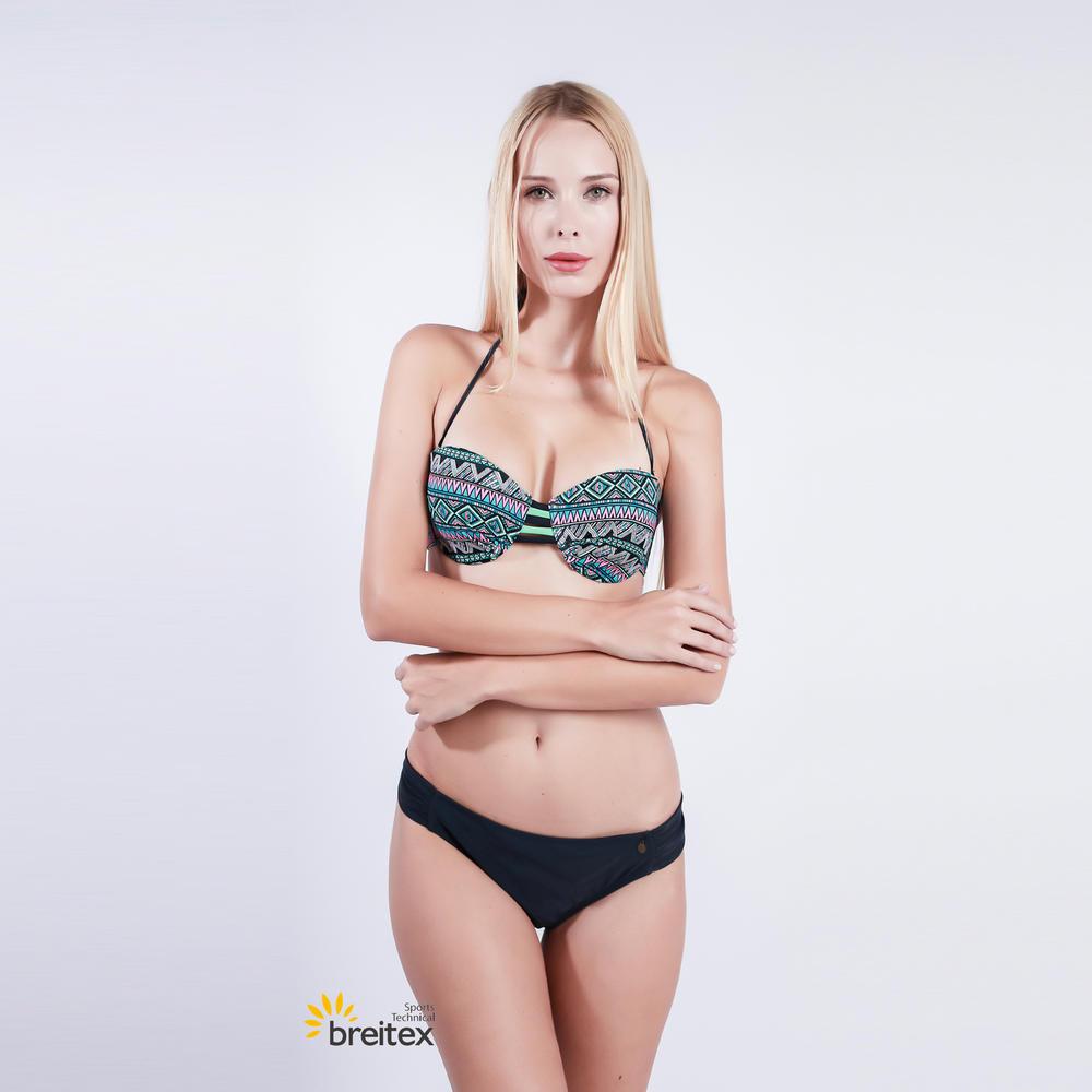 new green and black strips women's bikini