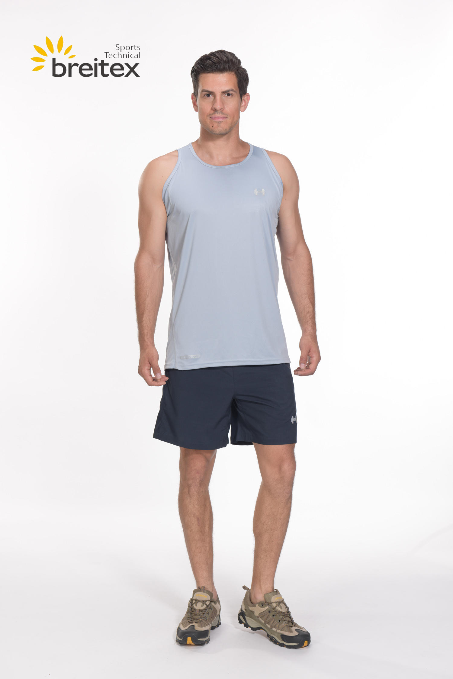 product-Breitex-Men Running Sleeveless Grey T-Shirt BT20SP0319005-RUNNING WEAR - on sale-img