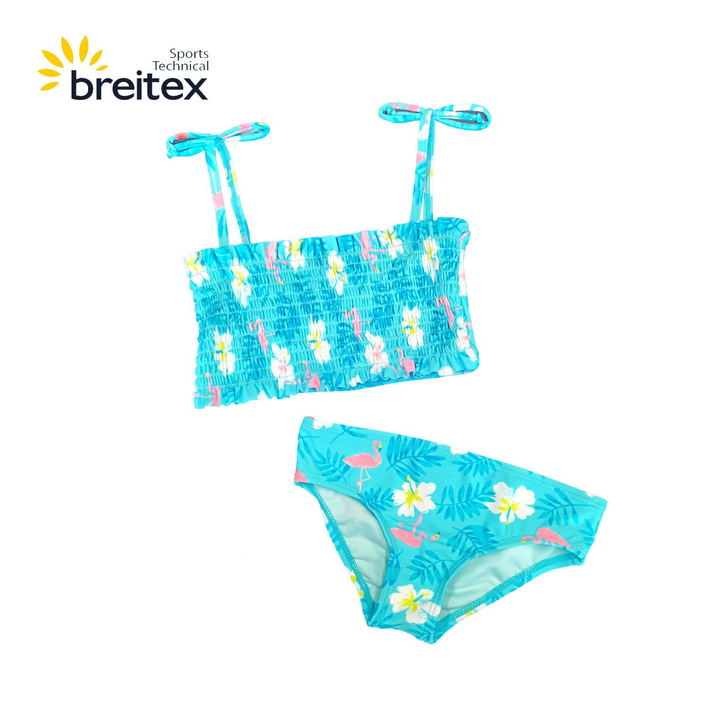 product-Breitex-Kids Swimwear with Shirred fabric Bandeau Bikini matching shorts from Breitex-img