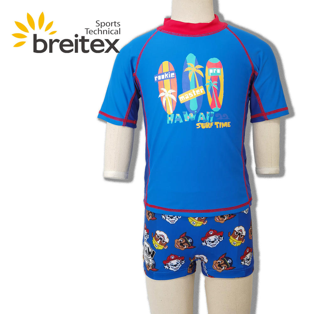 Best Quality Boy Swimwear Two Piece Short Sleeve and boardshorts (Toddler/Little Kids) Swimsuit Oem-Breitex