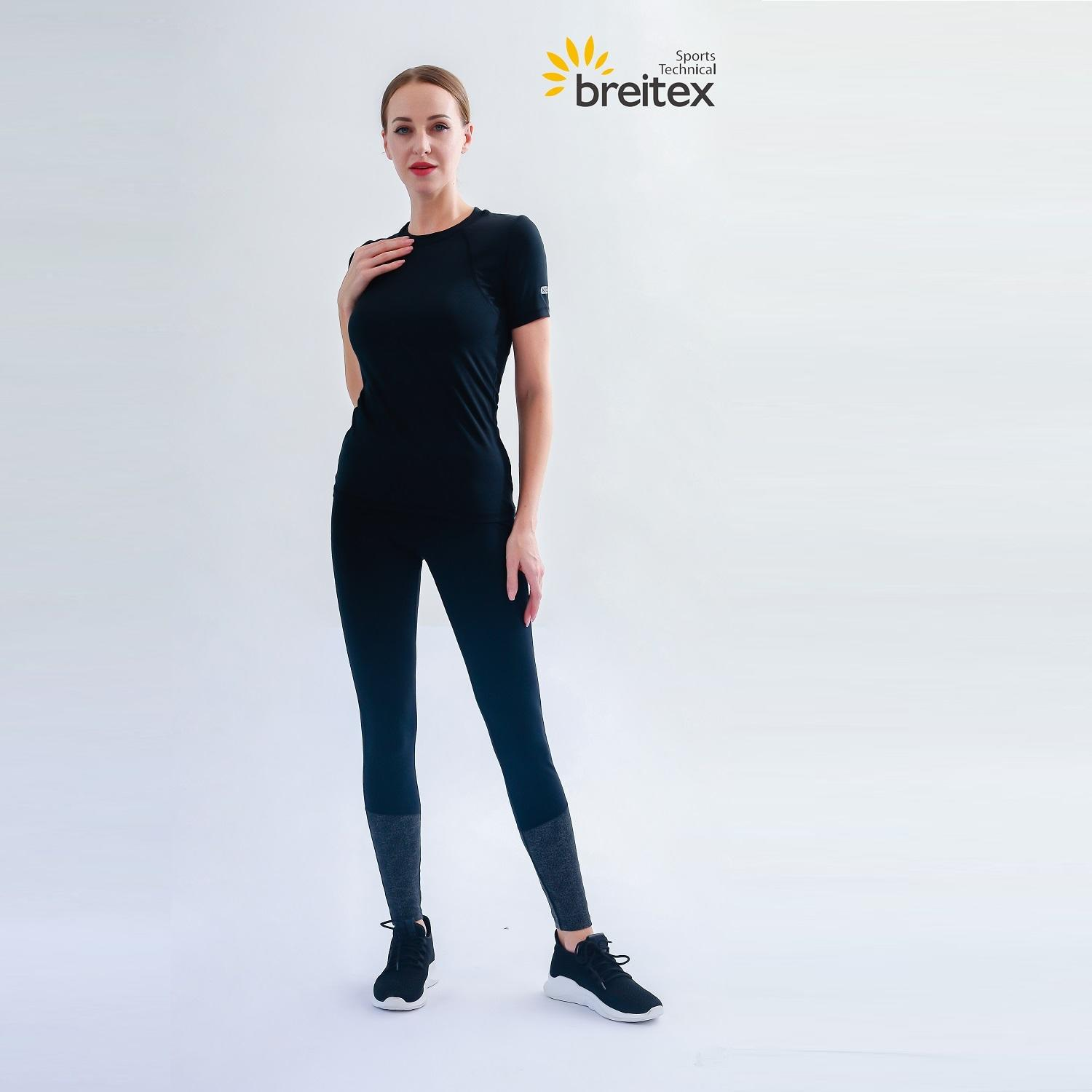 product-Breitex-Professional womens top reflective silicone print T-shirt with hollow back and leggi