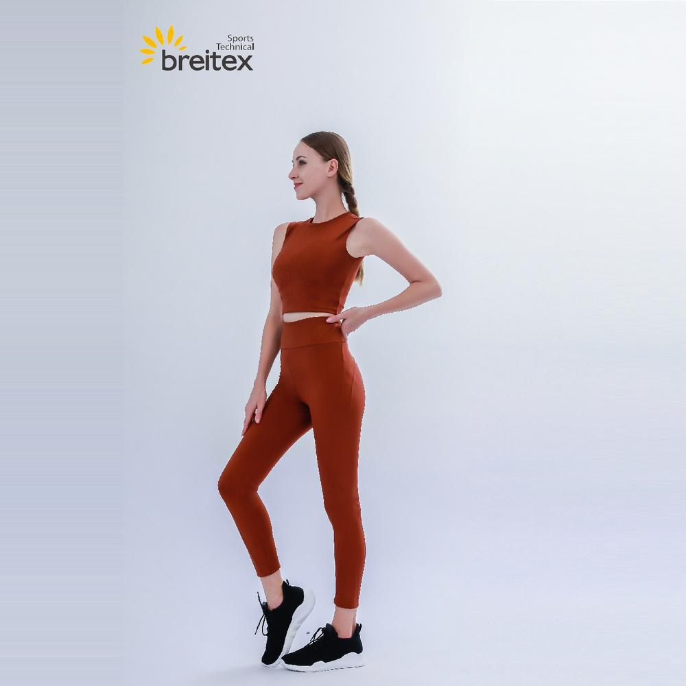 Women's Crop Breathe Tank Top and Color Matching Leggings