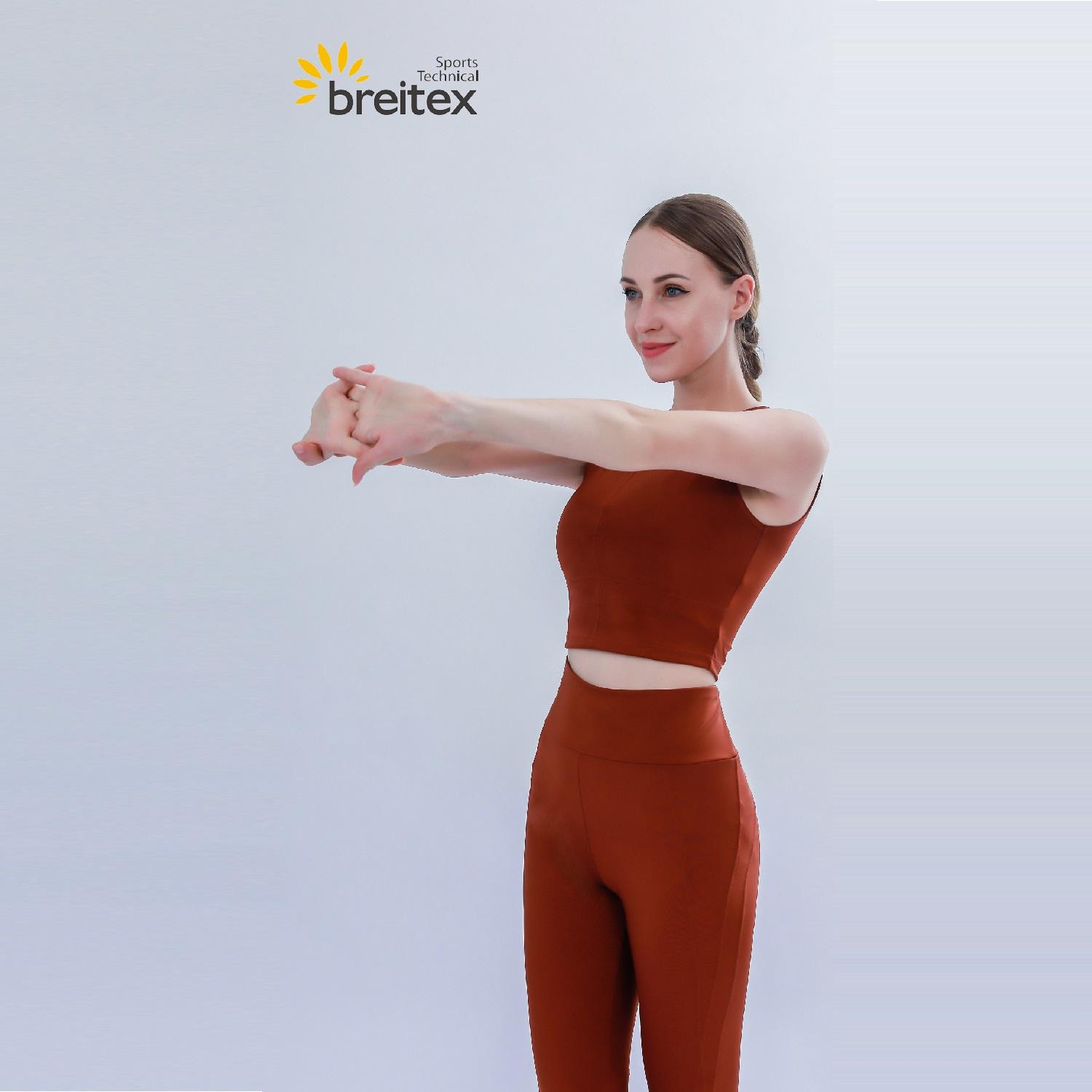 product-Breitex-Womens Crop Breathe Tank Top and Color Matching Leggings-img