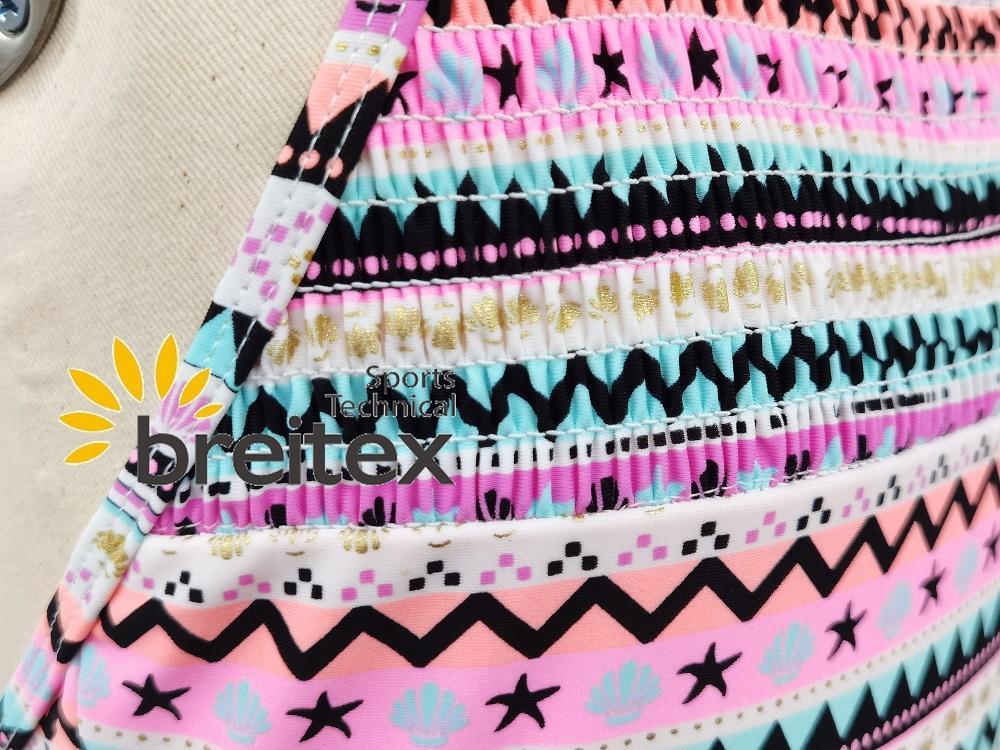 product-Kids swimwear front chest shirred and foil stripes one piece bikini from Breitex-Breitex-img-1