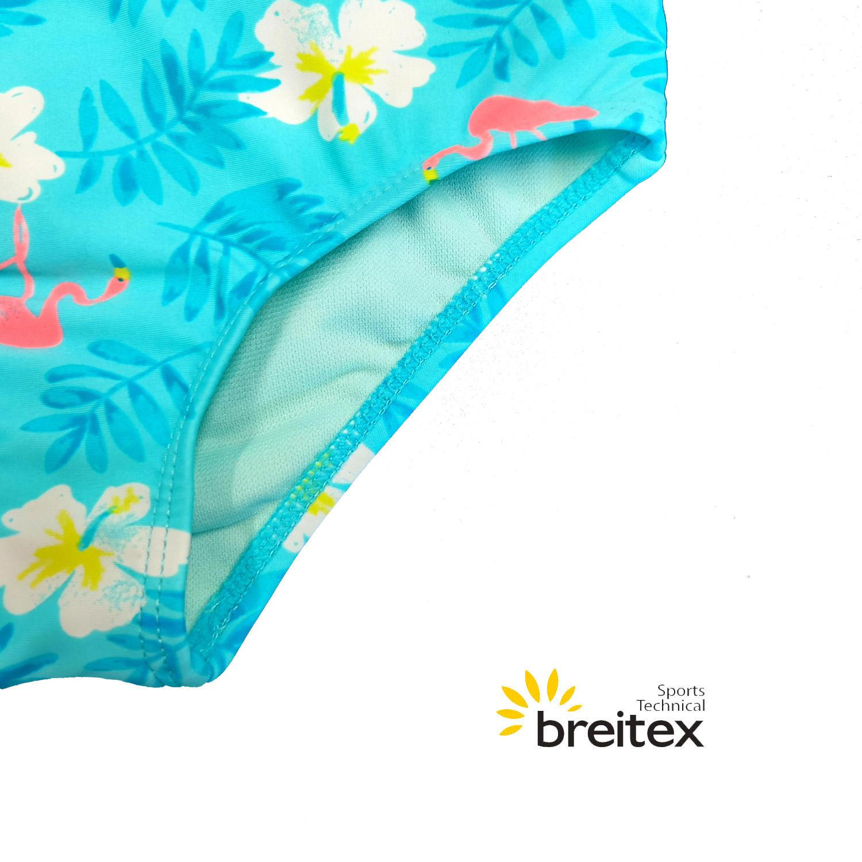 product-Kids Swimwear with Shirred fabric Bandeau Bikini matching shorts from Breitex-Breitex-img-1