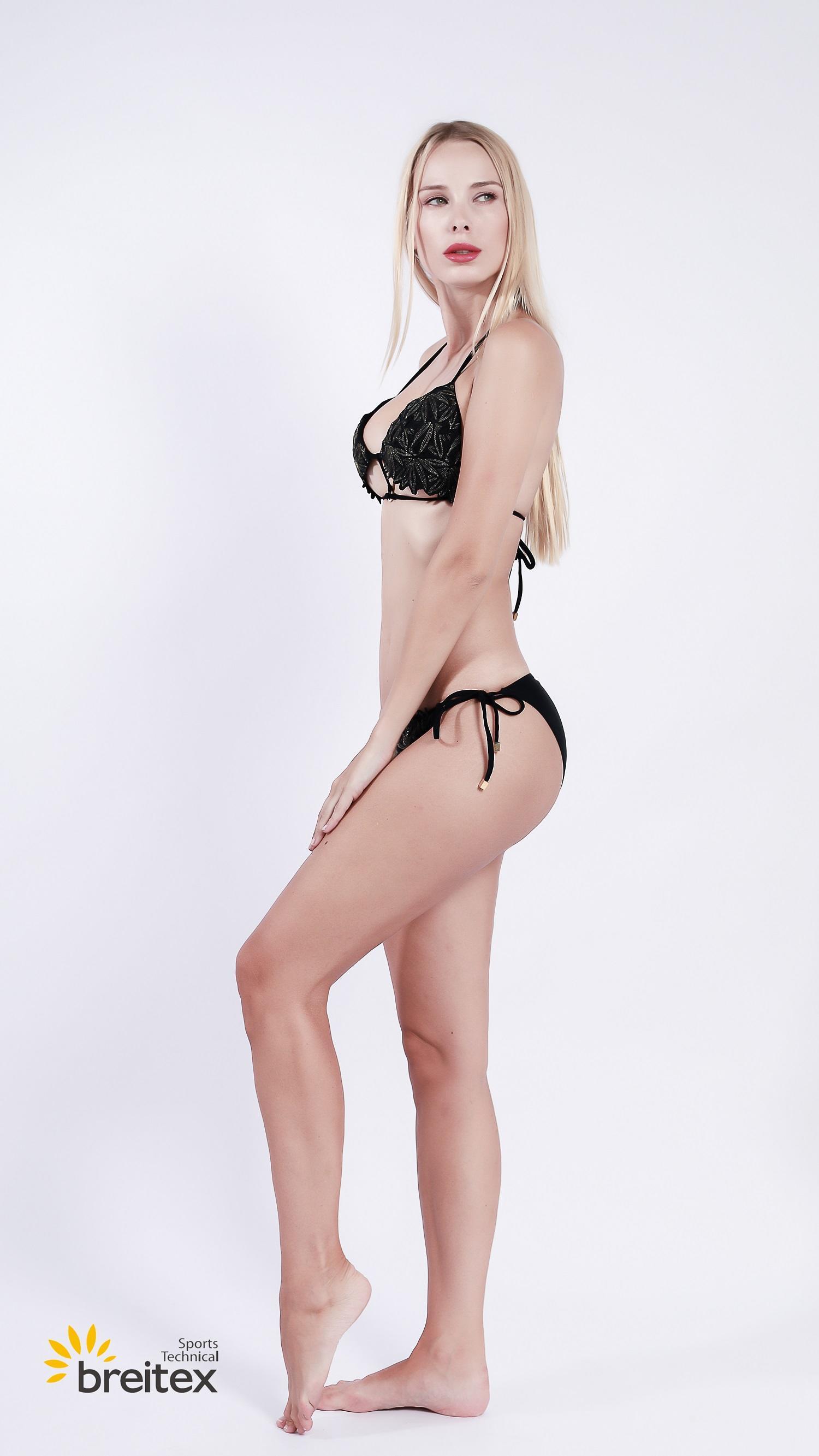 product-Breitex-Breitex bikini set in floral lurex thread embroidery-img