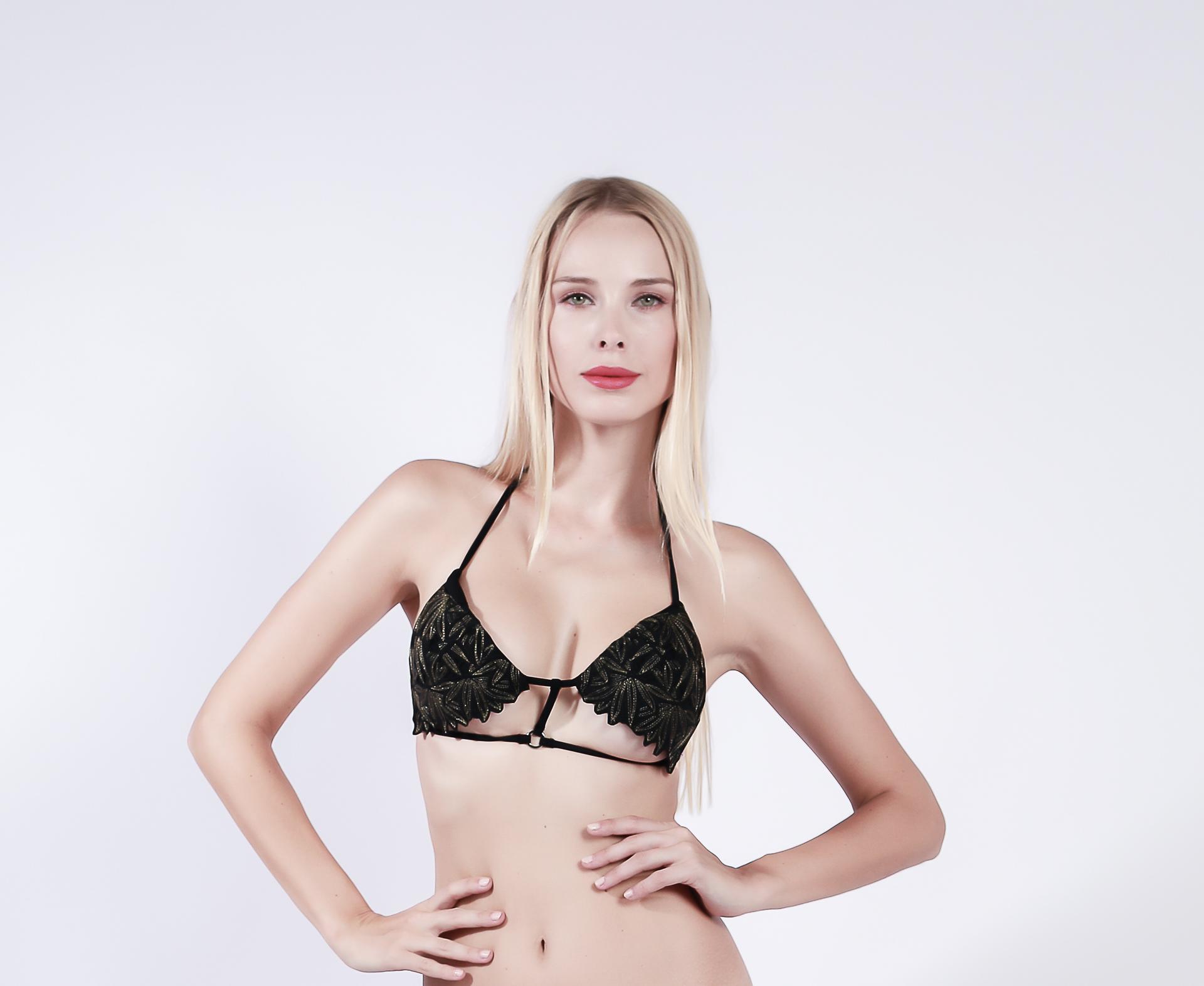 product-Breitex bikini set in floral lurex thread embroidery-Breitex-img-1