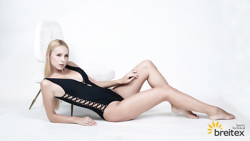 product-Breitex-v neckline criss cross ladies bikini one-piece swimwear-img