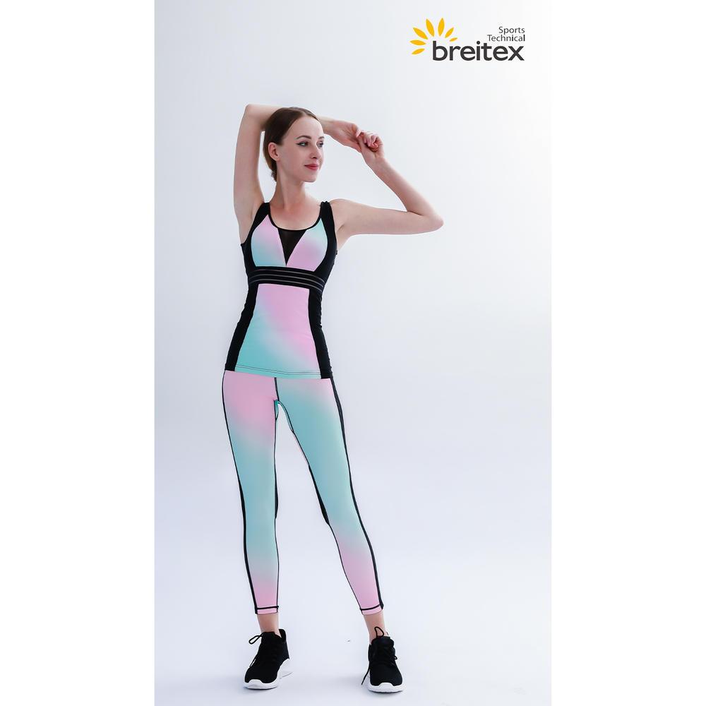 Breathable compression Neon gradient yoga set