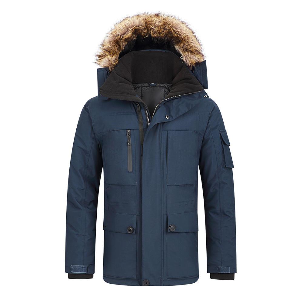 Men's winter jackets with faux fur trim