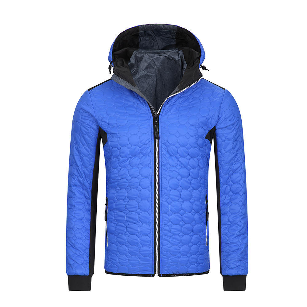 Men's down jacket with hood
