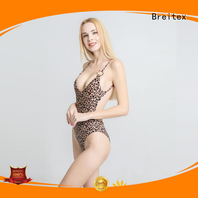 Breitex low back one piece swimsuit fashion factory direct